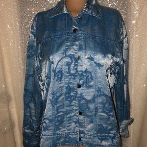 Drapers & Damon's Cotton Jacket Blue Women's med